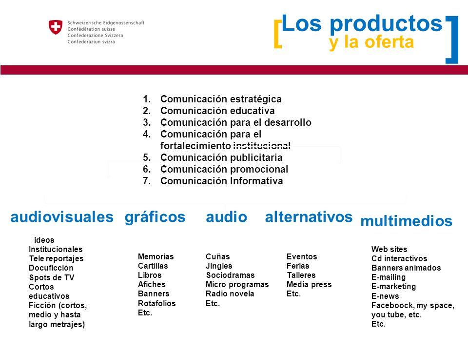 ] [ Los productos y la oferta audiovisuales gráficos audio